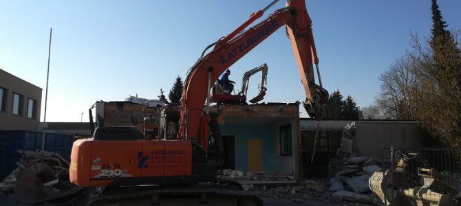Abriss des Nebengebäudes